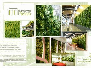 Nuevos proyectos Muros Frescos Jardines delanteros Compuestos de madera y plástico Verde