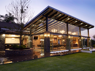 arketipo-taller de arquitectura Country style balcony, veranda & terrace Glass