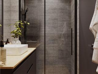 Projekt Domu Jednorodzinnego w Nowoczesnym stylu Senkoart Design Nowoczesna łazienka Wielokolorowy