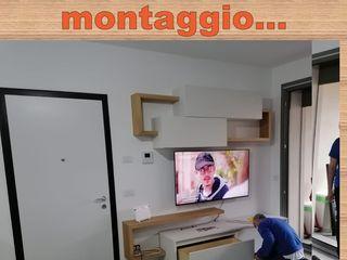 CORDEL s.r.l. 客廳電視櫃 複合木地板 White