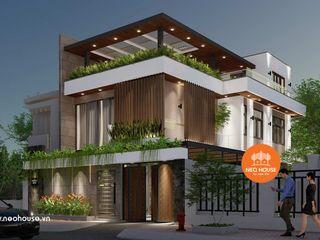 Thiết kế mẫu nhà biệt thự 3 tầng hiện đại 10x18m tại HCM NEOHouse