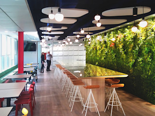 Nuevos Muros Frescos Muros Frescos Oficinas y tiendas de estilo moderno