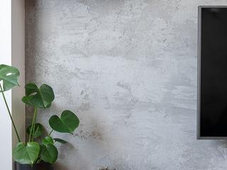 Katarzyna Wnęk Soggiorno moderno Cemento Grigio