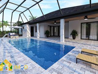 Community Pool Visualization Renderings Sarasota Florida JMSD Consultant - 3D Architectural Visualization Studio Swimming pond Marble Blue