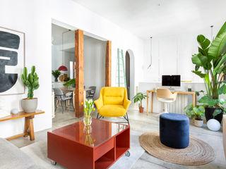 Interiorismo y decoración en Madrid / Kando Estudio 客廳 水泥 Multicolored