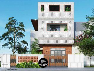 Thi công trọn gói biệt thự 3 tầng hiện đại đẹp 120m2 tại quận 12 NEOHouse