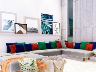 SCK Arquitetos Salones de estilo moderno