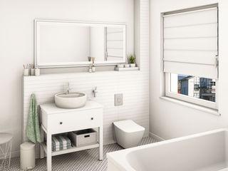 Heinz von Heiden Bungalow B65 Dieckmann Immobilien Badezimmer im Landhausstil Weiß