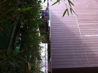 Deck Natural y Sintetico NATURA PISOS SA DE CV Condominios Compuestos de madera y plástico Rojo