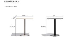 Todus Branta Bistrotisch Livarea Balkon, Veranda & TerrasseMöbel
