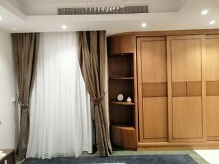 كاسل للإستشارات الهندسية وأعمال الديكور والتشطيبات العامة ห้องนอนขนาดเล็ก แผ่น MDF Brown