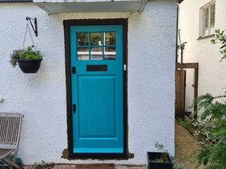 Entrance door Repair A Sash Ltd Puertas de entrada Derivados de madera Turquesa