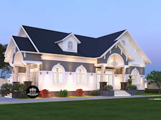 Thiết kế thi công nhà biệt thự vườn 1 tầng hiện đại 180m2 tại Long An NEOHouse