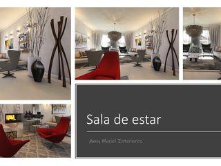 Anny Maciel Interiores - Casa Cor de Riso Modern Living Room Grey