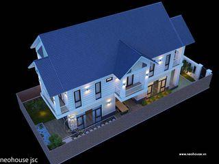 Thi công trọn gói nhà đẹp 2 tầng hiện đại 130m2 tại Bình Phước NEOHouse