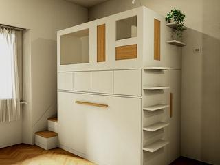 Progetto per una cameretta moderna Falegnamerie Design Camera da letto piccola Legno Beige