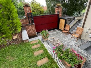 Doğaltaş Atölyesi Rustic style walls & floors Bricks Red