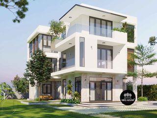 Thiết kế xây dựng nhà biệt thự đẹp 3 tầng 5 phòng ngủ tại HCM NEOHouse