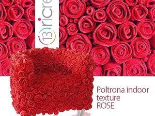 13 RiCrea POLTRONE INDOOR MUCHAS ROSAS 13RiCrea Soggiorno eclettico Legno Rosso