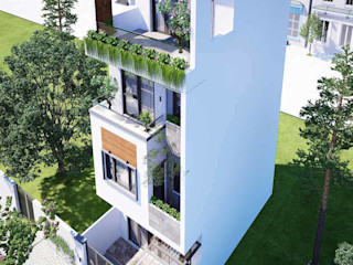 Thiết kế nhà phố 4 tầng hiện đại 3 phòng ngủ 1 phòng thờ tại Thủ Đức NEOHouse