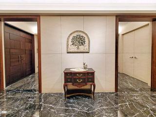 大直西華富邦 - 公領域空間 以恩室內裝修設計工程有限公司 斯堪的納維亞風格的走廊,走廊和樓梯