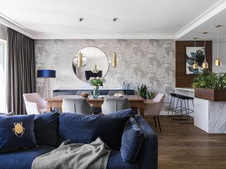 Anna Serafin Architektura Wnętrz Livings de estilo moderno