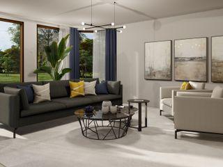 3D Visualisierungen der Planungen Livarea Moderne Wohnzimmer
