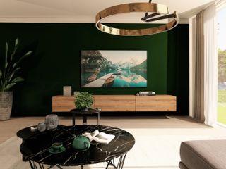 3D Visualisierungen der Planungen Livarea WohnzimmerTV- und Mediamöbel