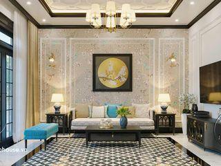 Mẫu thiết kế nội thất biệt thự phong cách Indochine 10x16m tại Đồng Nai NEOHouse