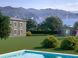 Rendering esterno rustico Genova Agenzia Rendering 3D - W & E srl Casetta da giardino