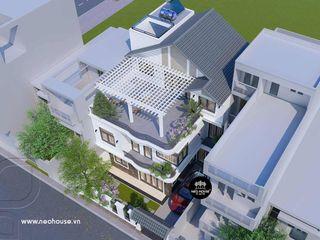 Mẫu thiết kế biệt thự phố 3 tầng hiện đại 10x11m tại Vũng Tàu NEOHouse