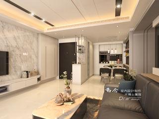 現代舒適時尚居 -- 仁山洺悅 木博士團隊/動念室內設計制作 现代客厅設計點子、靈感 & 圖片
