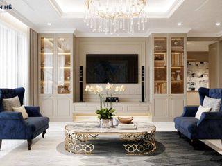 Thiết kế nội thất căn hộ Riverside Residence - 135m2 Công ty Cổ Phần Nội Thất Mạnh Hệ Living roomAccessories & decoration