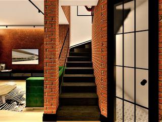 livinghome wnętrza Katarzyna Sybilska Коридор, прихожая и лестница в модерн стиле