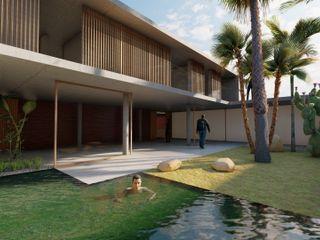 DUQUE & SCHWARTZ Arquitectura y cooperación 泳池 磁磚 Green