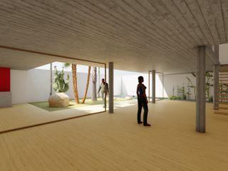 DUQUE & SCHWARTZ Arquitectura y cooperación 客廳 水泥 Multicolored