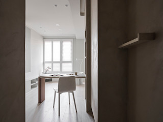 寓子設計 Hành lang, sảnh & cầu thang phong cách Bắc Âu