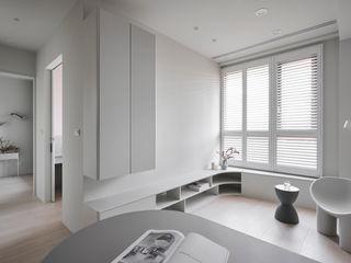 寓子設計 Phòng khách phong cách Bắc Âu