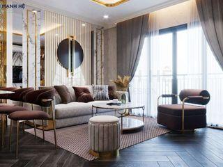 Diamond Riverside Q8 - 72m2 - 1PN - Cô Lệ Công ty Cổ Phần Nội Thất Mạnh Hệ Living roomSofas & armchairs