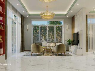Mẫu thiết kế nội thất biệt thự hiện đại siêu sang trọng 9x14m tại quận 7 hcm NEOHouse