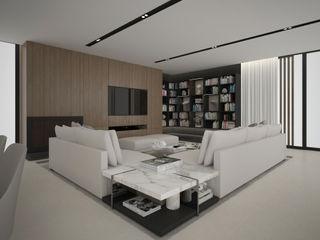 Moradia Sofisticada Maria Vilhena Interior Design Salas de estar modernas Mármore Acabamento em madeira