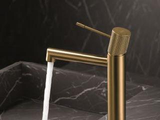 Torneira Lavatorio Dourada Fator Banho Casa de banhoPia Metal Ambar/dourado