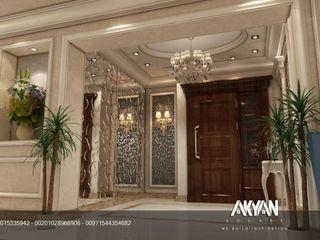 AKYAN SQUARE Pasillos, vestíbulos y escaleras de estilo clásico Negro