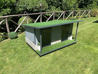 Cucce di design per 2 o più cani Pet House Design® Giardino anteriore Legno Grigio