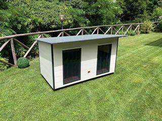 Cucce di design per 2 o più cani Pet House Design® Giardino d'inverno moderno Legno Bianco
