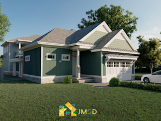 Photorealistic Rendering Services for Home JMSD Consultant - 3D Architectural Visualization Studio Modern Houses Bricks Green