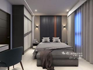 線與面、深與淺的碰撞 -- 仁山洺悅 木博士團隊/動念室內設計制作 臥室