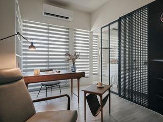 寓子設計 Phòng học/văn phòng phong cách Bắc Âu