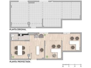 D4-Arquitectos Estudios y despachos modernos Madera Blanco