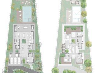 D4-Arquitectos Casas unifamiliares Madera Blanco